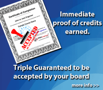 Immediate proof of the PDH you earn guaranteed to be accepted