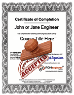 PDHengineer Certificate of Completion