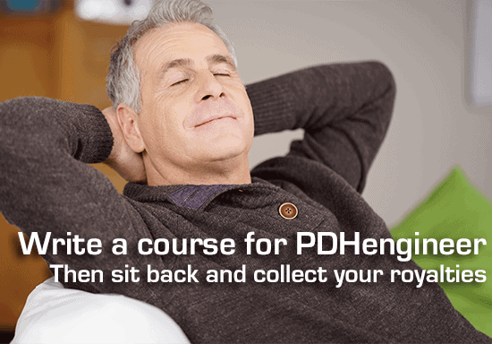Write a course for PDHengineer and earn royalties